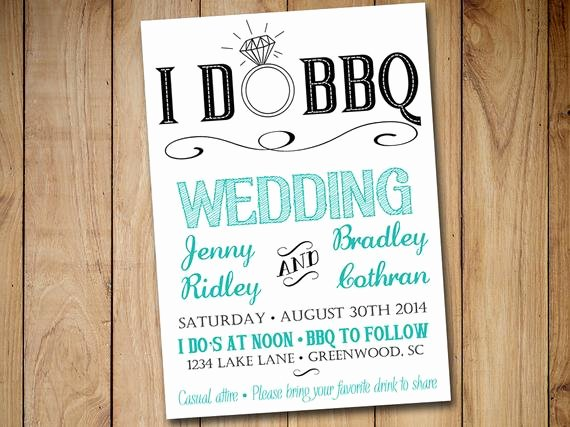 I Do Barbecue Invitations Lovely I Do Bbq Wedding Invitation Template Download Blue Teal Black 5x7 Wedding Printable Rustic