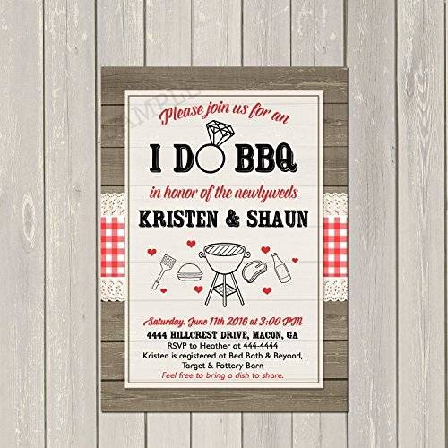 I Do Barbecue Invitations Luxury Amazon I Do Bbq Invitation Couples Wedding Shower Barbecue Invitation Engagement Party