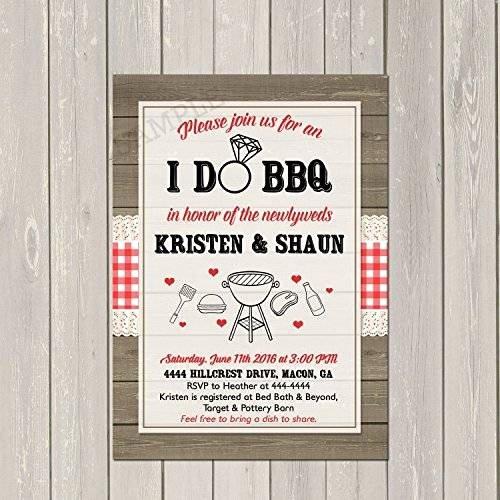 I Do Barbecue Invitations Luxury Amazon I Do Bbq Invitation Couples Wedding Shower Barbecue Invitation Engagement Party