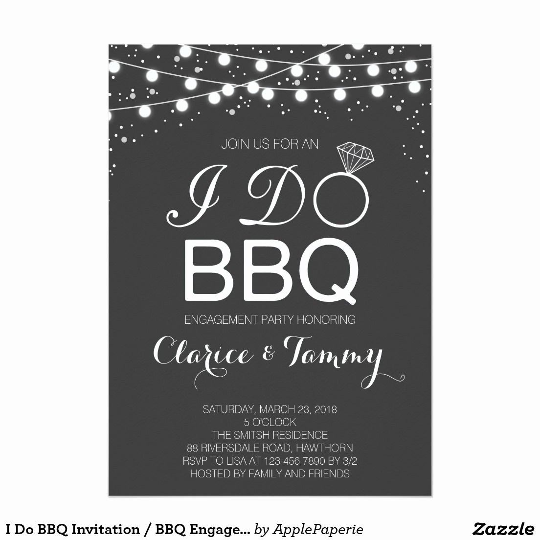 I Do Barbecue Invitations New I Do Bbq Invitation Bbq Engagement Party Invites Pinterest