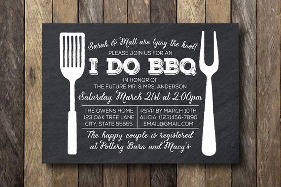 I Do Bbq Invitations Awesome I Do Barbecue Invitation Engagement Party by thelionandthelark