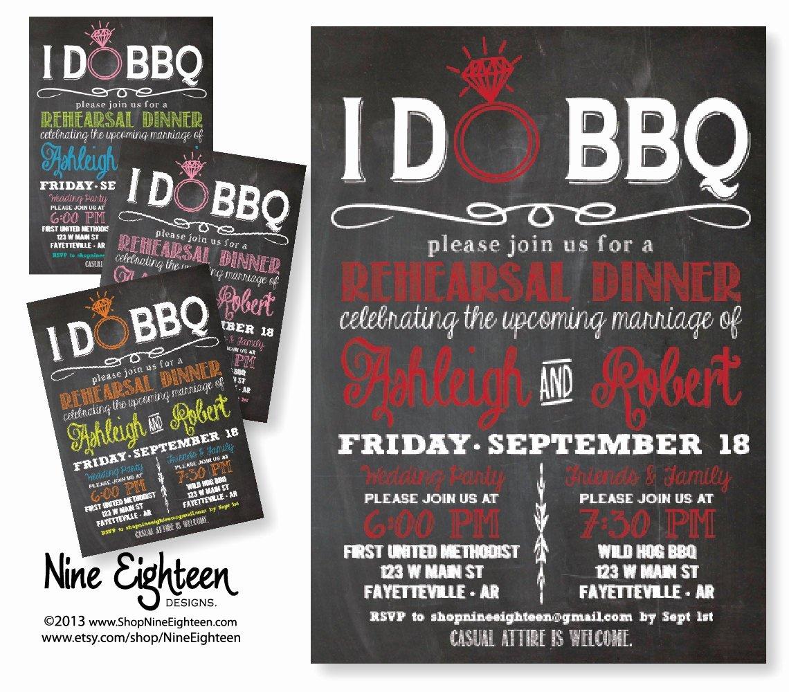 I Do Bbq Invitations Awesome I Do Bbq Rehearsal Dinner Invitation Chalkboard by Nineeighteen