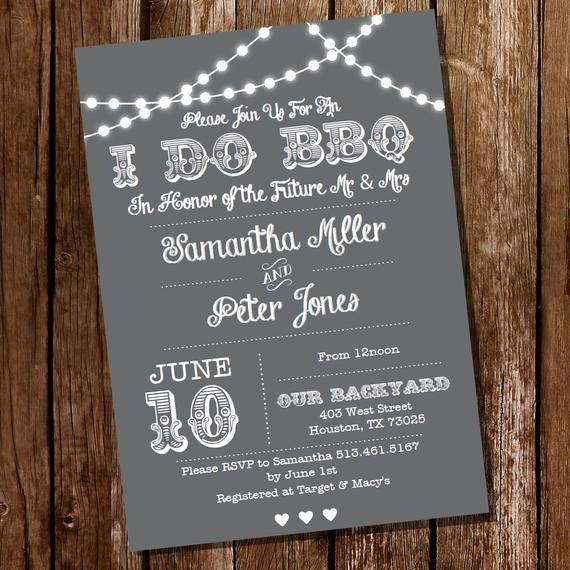 I Do Bbq Invitations Beautiful I Do Bbq Lnvitation Gray Engagement Invitation Instantly