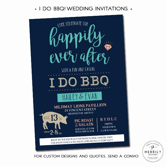 I Do Bbq Invitations Beautiful I Do Bbq Wedding Invitations Casual Wedding Invitation