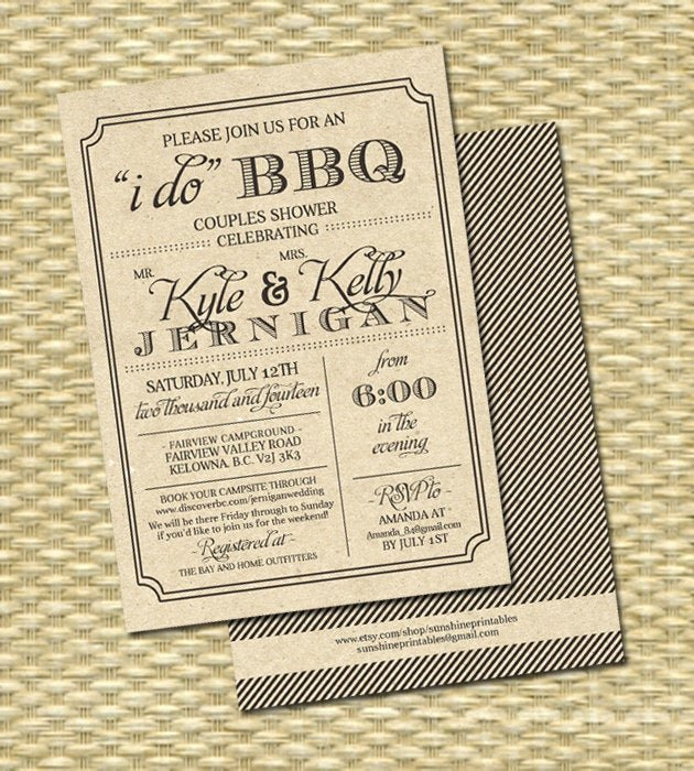 I Do Bbq Invitations Beautiful Rustic Kraft I Do Bbq Invitation Rehearsal Dinner Engagement