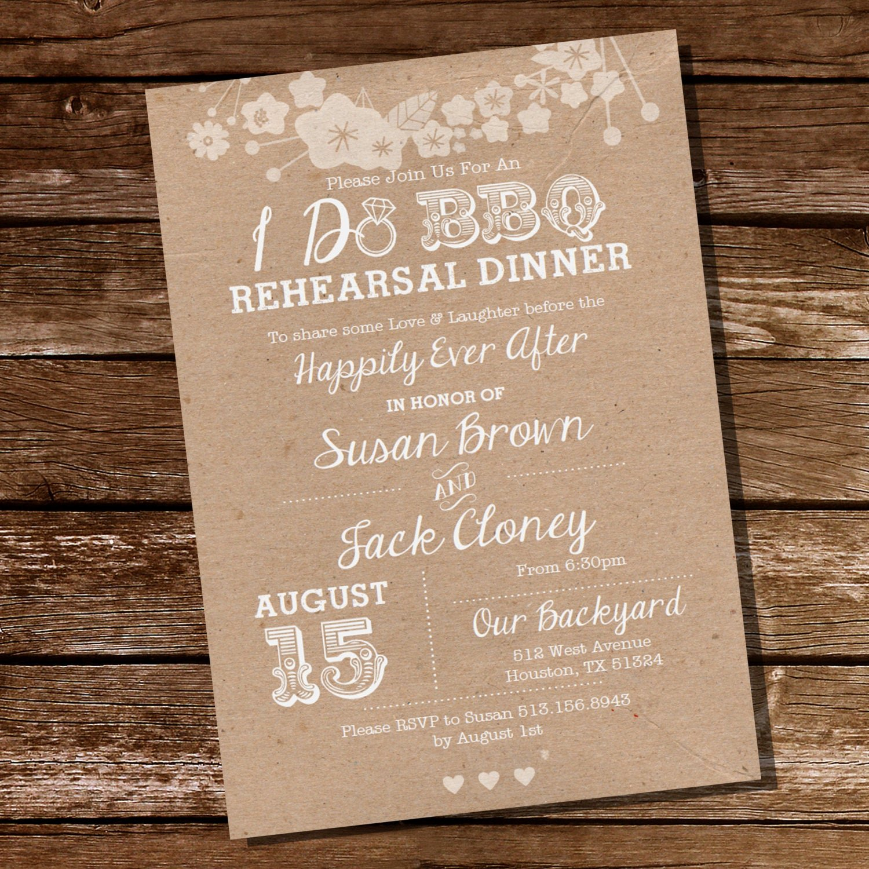 I Do Bbq Invitations Lovely I Do Bbq Rehearsal Dinner Invitation Instant Download and