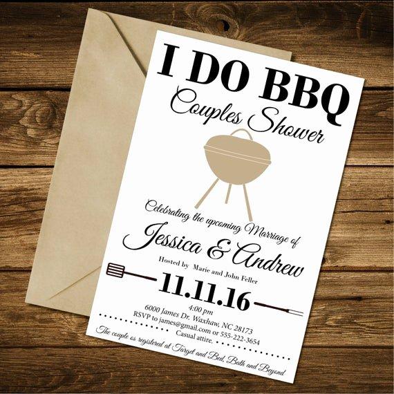 I Do Bbq Invitations New Couples Shower Invitation I Do Bbq Couples Shower Invitation