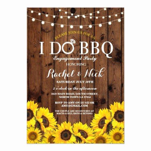 I Do Bbq Invitations New I Do Bbq Sunflower Couples Shower Rustic Invite