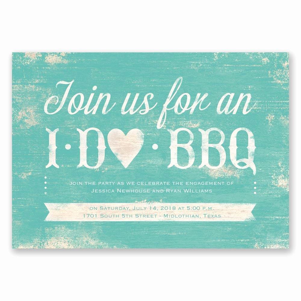 I Do Bbq Invitations Unique I Do Bbq Engagement Party Invitation