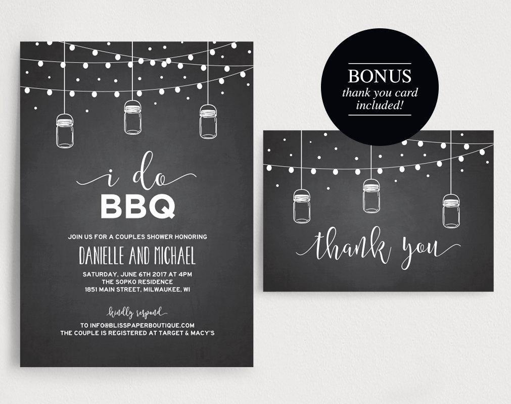 I Do Bbq Invitations Unique I Do Bbq Invitation I Do Bbq Couples Shower Barbecue Bridal Shower – Bliss Paper Boutique