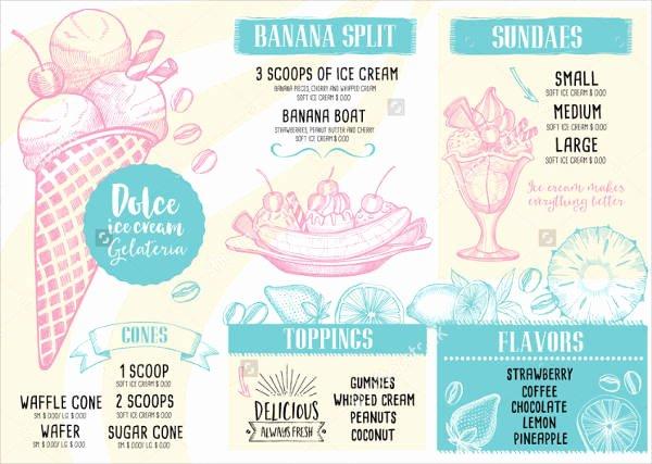 Ice Cream Menu Template Beautiful 13 Ice Cream Menu Templates Psd Eps Ai Word
