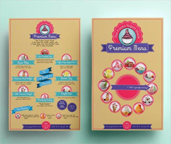 Ice Cream Menu Template Best Of 13 Ice Cream Menu Templates Psd Eps Ai Word