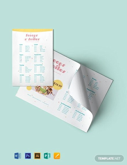 Ice Cream Menu Template Best Of Free Ice Cream Menu Template Download 288 Menus In Psd Word Publisher Indesign Illustrator