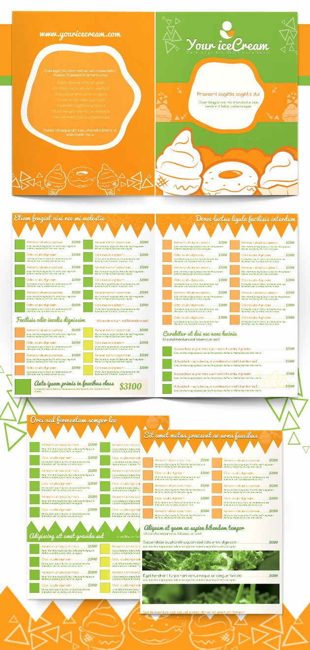 Ice Cream Menu Template Best Of Ice Cream Shop Menu