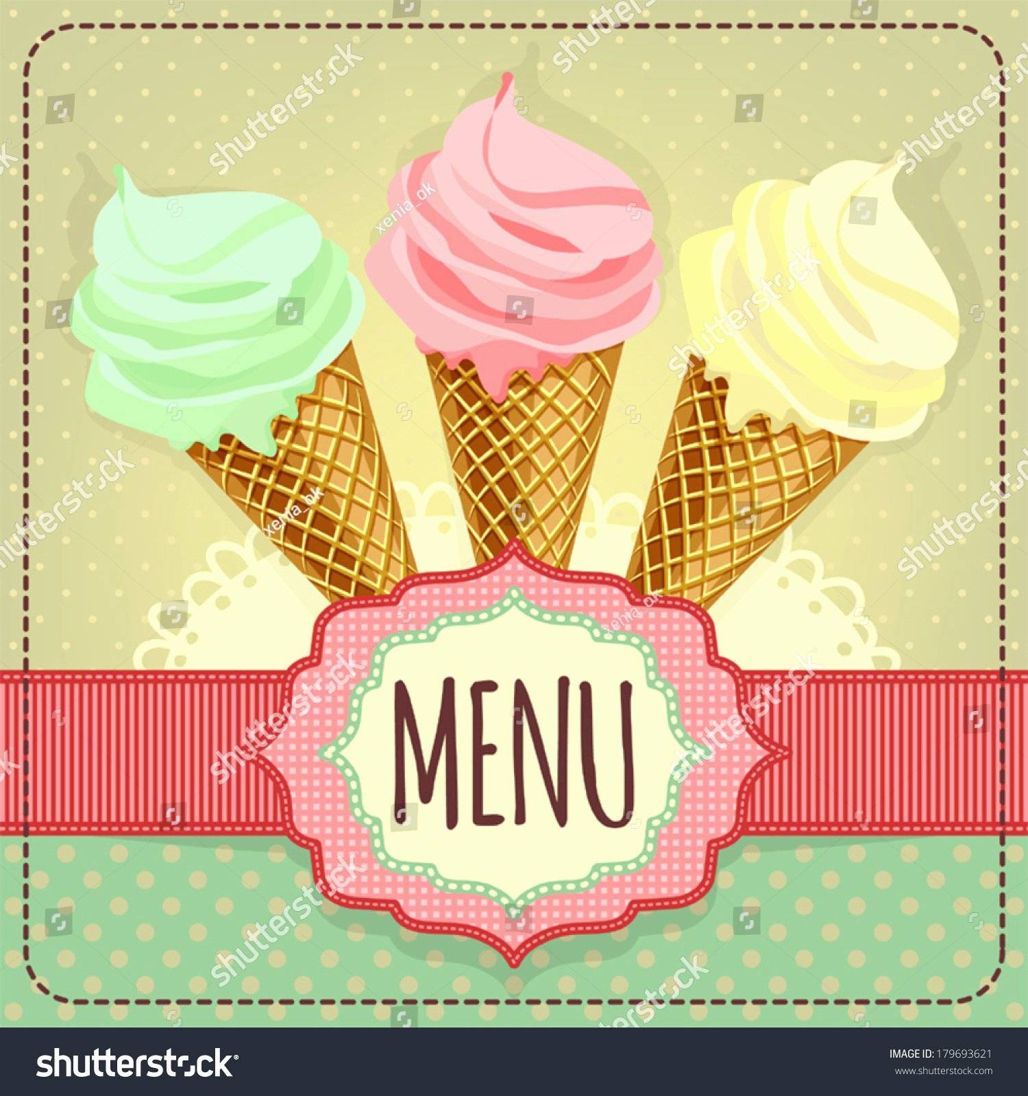 Ice Cream Menu Template Inspirational Card with Ice Cream Template for Menu Stock Vector Illustration Shutterstock
