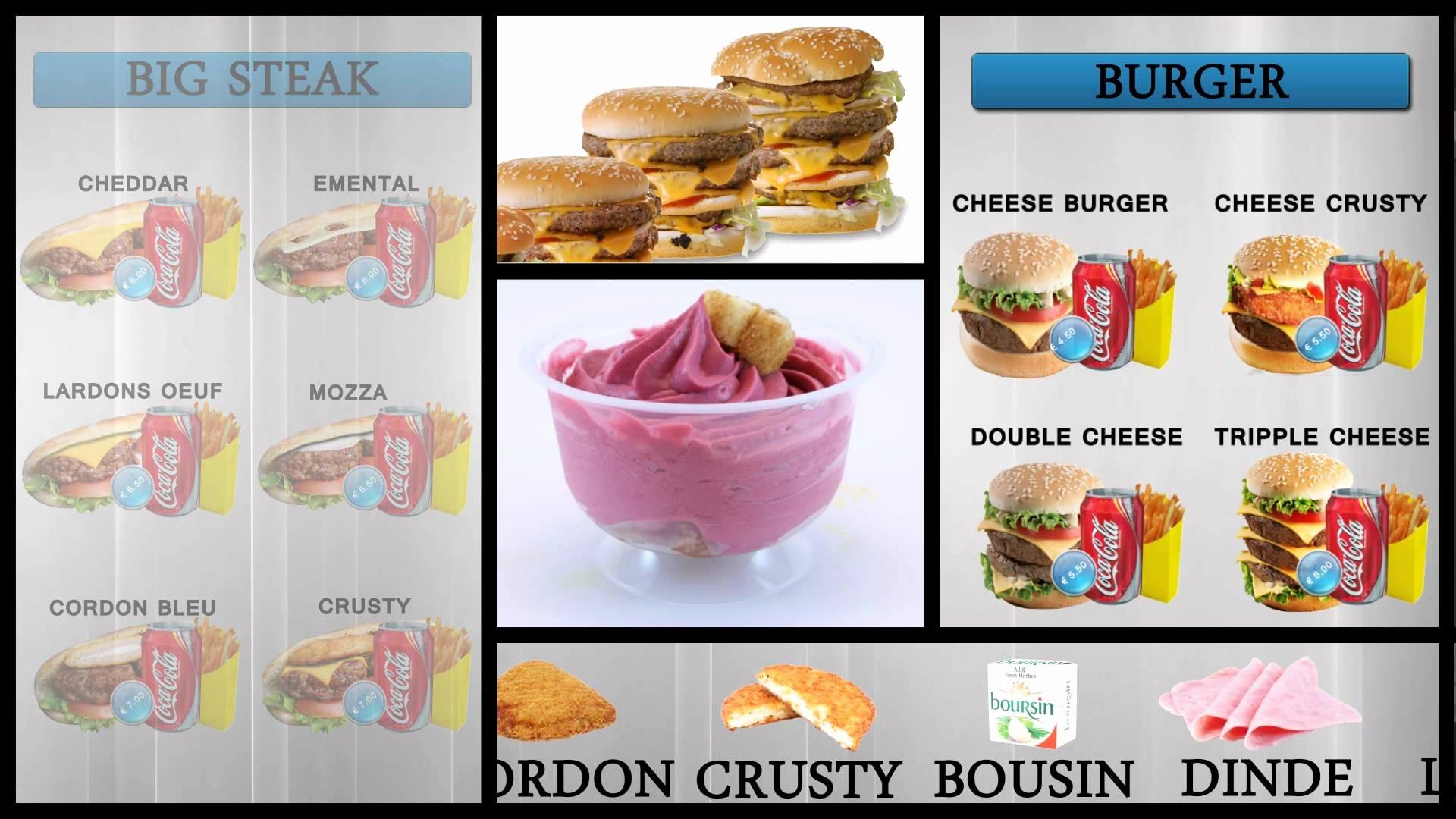 Ice Cream Menu Template New Digital Signage Video Template Ice Cream Menu – top2d3d Studios