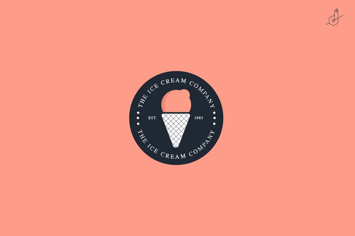 Ice Cream Restaurants Logos Fresh Ice Cream Pany Logo Logo Templates Creative Market