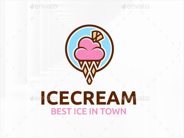 Ice Cream Restaurants Logos Lovely 21 Examples Of Ice Cream Logos Free Psd Ai Vector Eps format Download