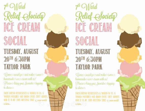 Ice Cream social Flyer Awesome Unavailable Listing On Etsy
