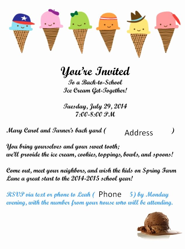 Ice Cream social Flyer Beautiful Hosting A Neighborhood Ice Cream social