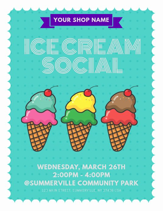 Ice Cream social Flyer Best Of Ice Cream social Flyer Template