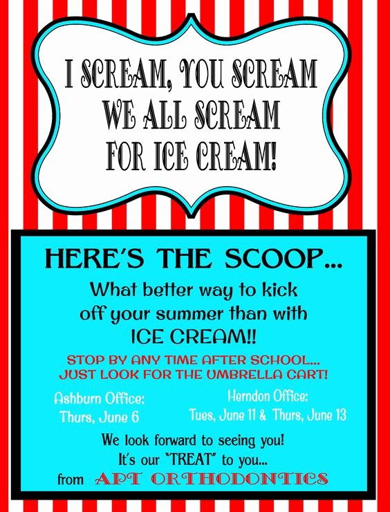 Ice Cream social Flyer Elegant Pinterest • the World's Catalog Of Ideas