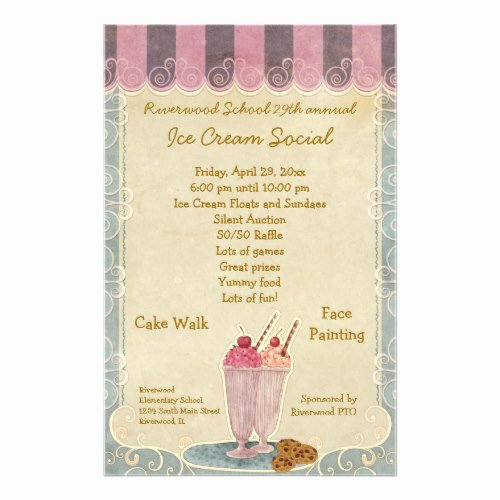 Ice Cream social Flyer Inspirational Eye Catching event Flyer Ideas for Fundraisers