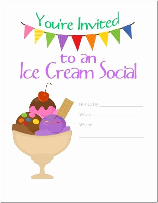 Ice Cream social Flyer Inspirational Ice Cream social Invitation Ice Cream social Invite Ice Ice Cream social Pinterest