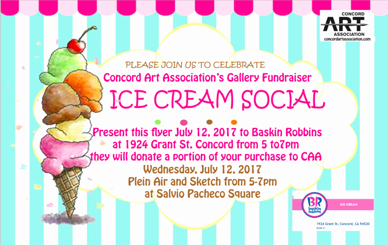 Ice Cream social Flyer Luxury Concord Art association