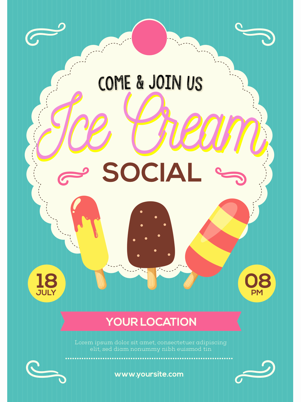Ice Cream social Flyer Luxury Ice Cream social Flyer
