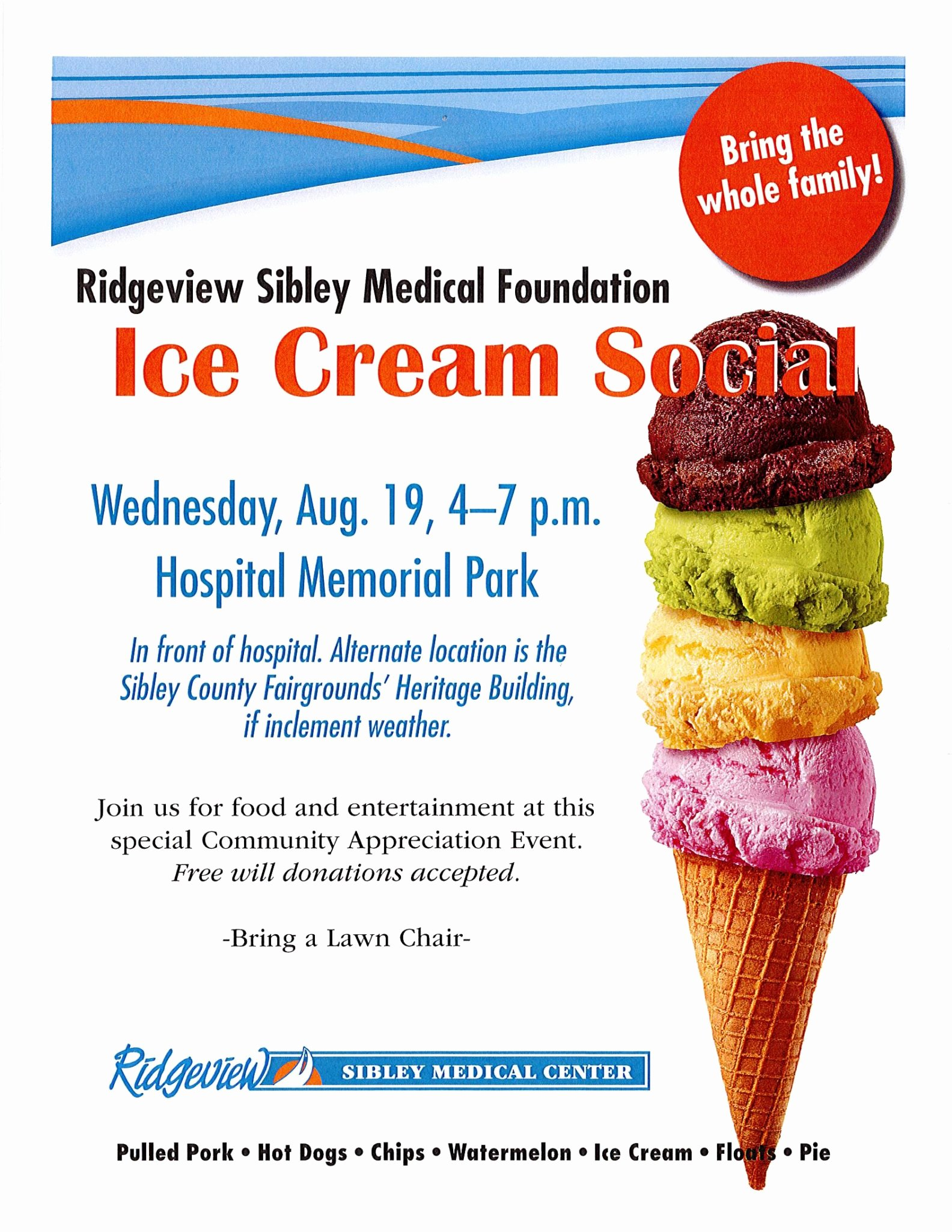 Ice Cream social Flyer Luxury Ridgeview Sibley Medical Foundation Ice Cream social City Of Arlington