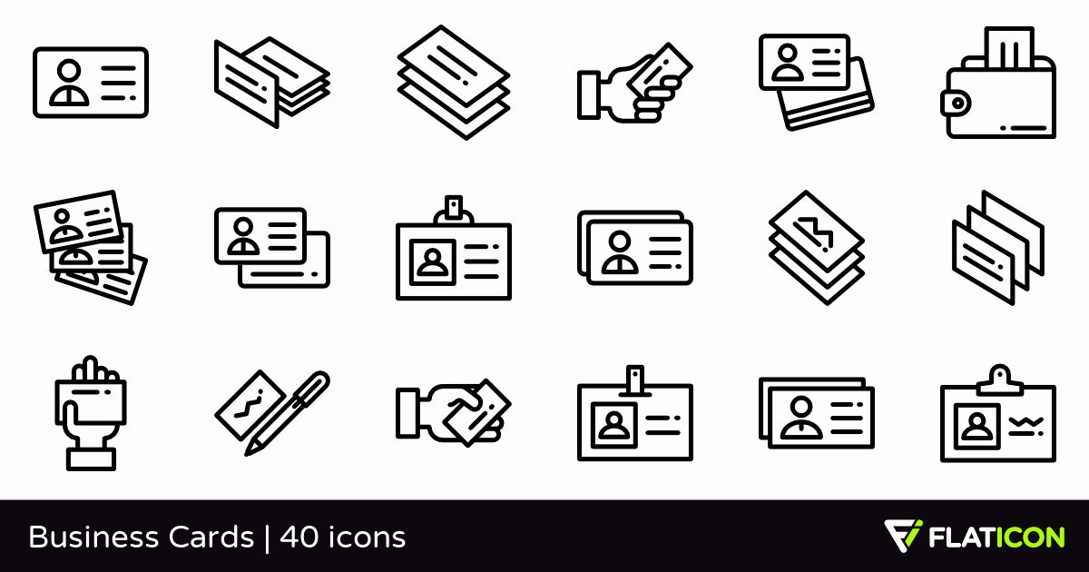 Icon for Business Card Awesome Business Cards 40 Free Icons Svg Eps Psd Png Files