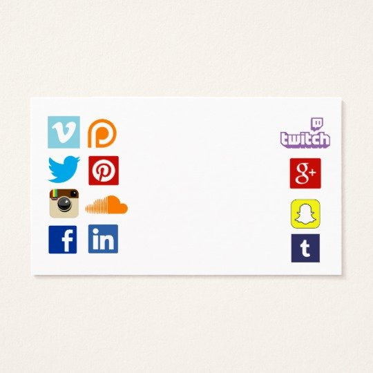 Icon for Business Card Inspirational Business Card Template with social Media Icons 3