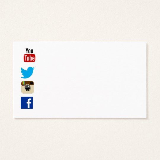 Icon for Business Card New Business Card Template with social Media Icons 2