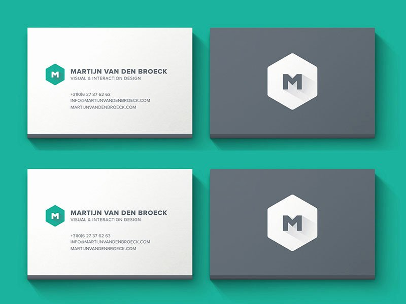 Icon for Business Card New top 3 Freebies – Minimal Business Card E Page Portfolio