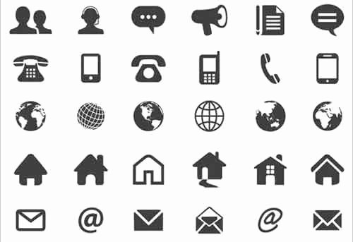 Icon for Business Card Unique Contact Icons 19 Free Sets Useful for Website Design