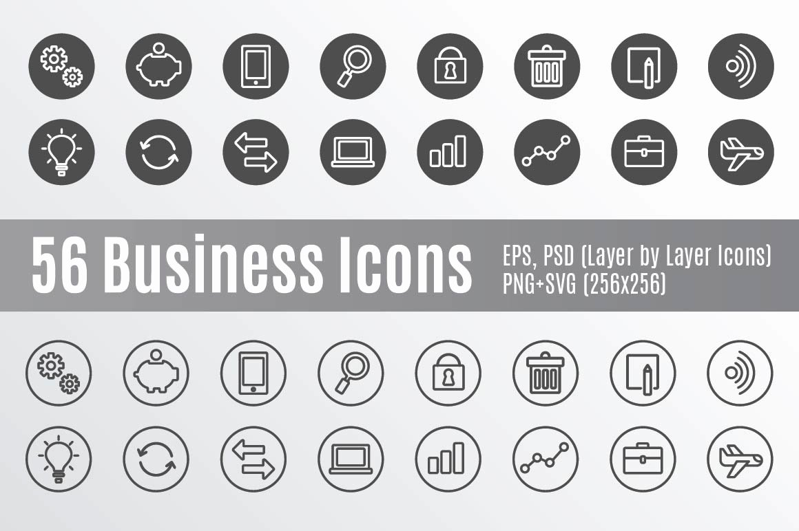 Icon for Business Cards Beautiful 56 Business Icons Icons Creative Market