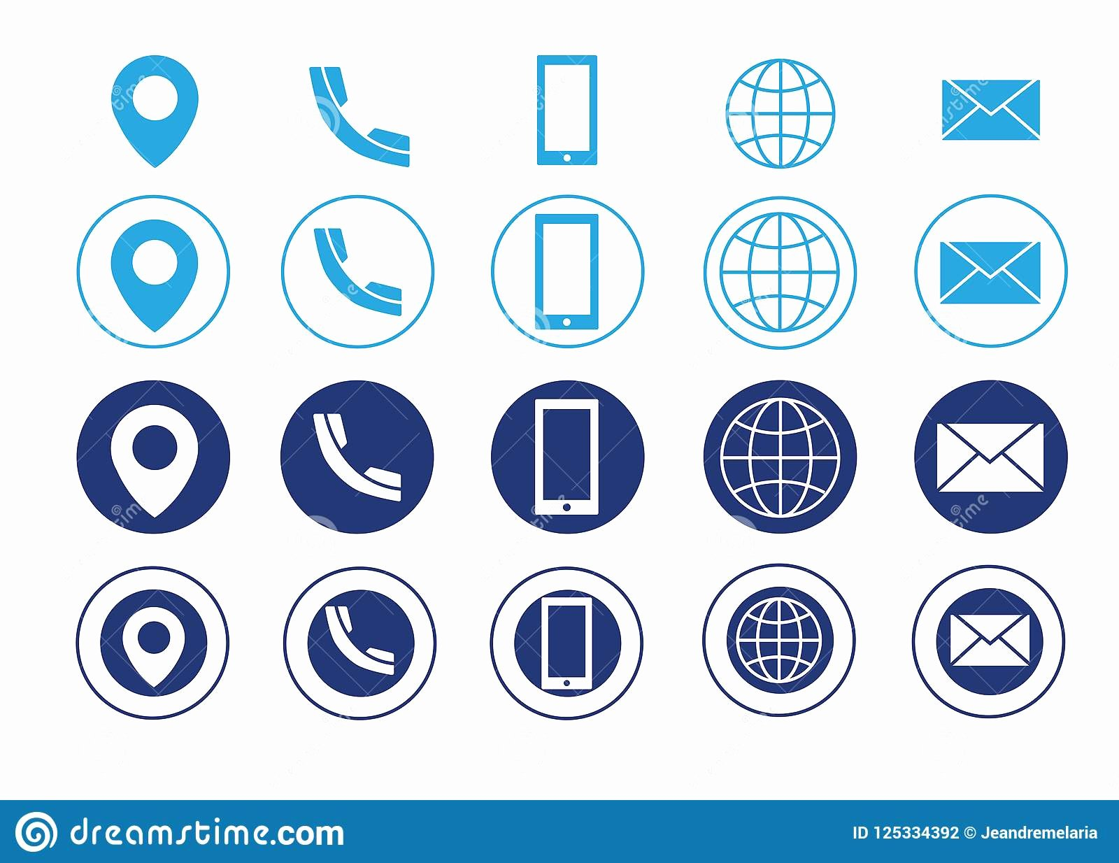 Icon for Business Cards Elegant Vector Business Card Contact Information Icons Stock Vector Illustration Of Address Telephone
