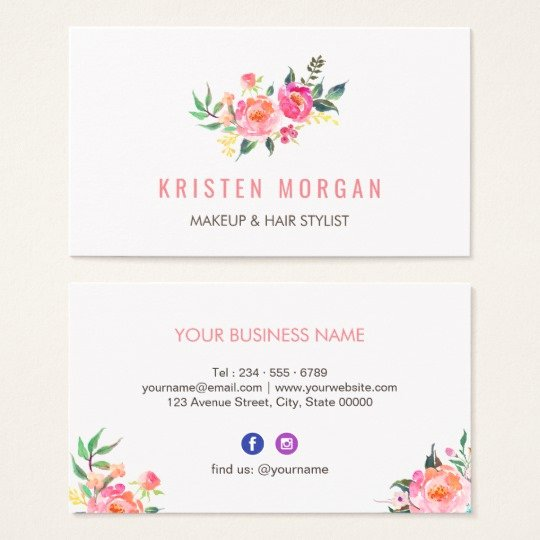 Icon for Business Cards Inspirational Modern Watercolor Floral Instagram Icon Business Card