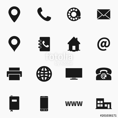 "Icon for Business Cards Inspirational ""set Of Business Card Vector Icons "" Stock Image and Royalty Free Vector Files On Fotolia"