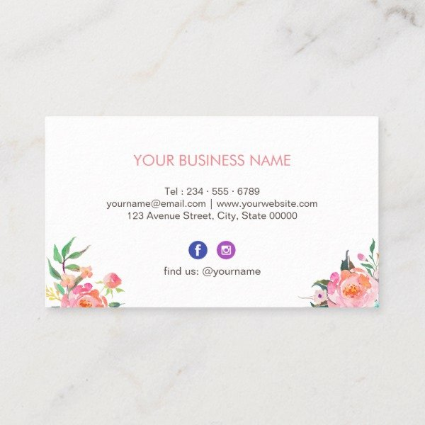 Icon for Business Cards Lovely Modern Watercolor Floral Instagram Icon Business Card J32 Design