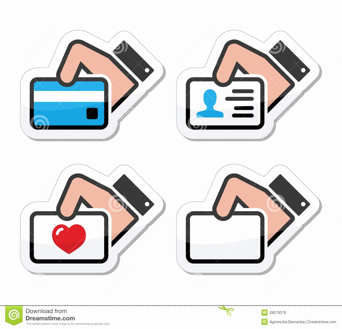 Icon for Business Cards Unique Hand Holding Credit Card Business Card Icons Set Stock Illustration Illustration Of Glossy