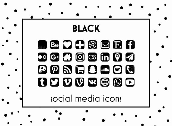Icons for Business Cards Awesome social Media Icons Black Icons Black button social Icons