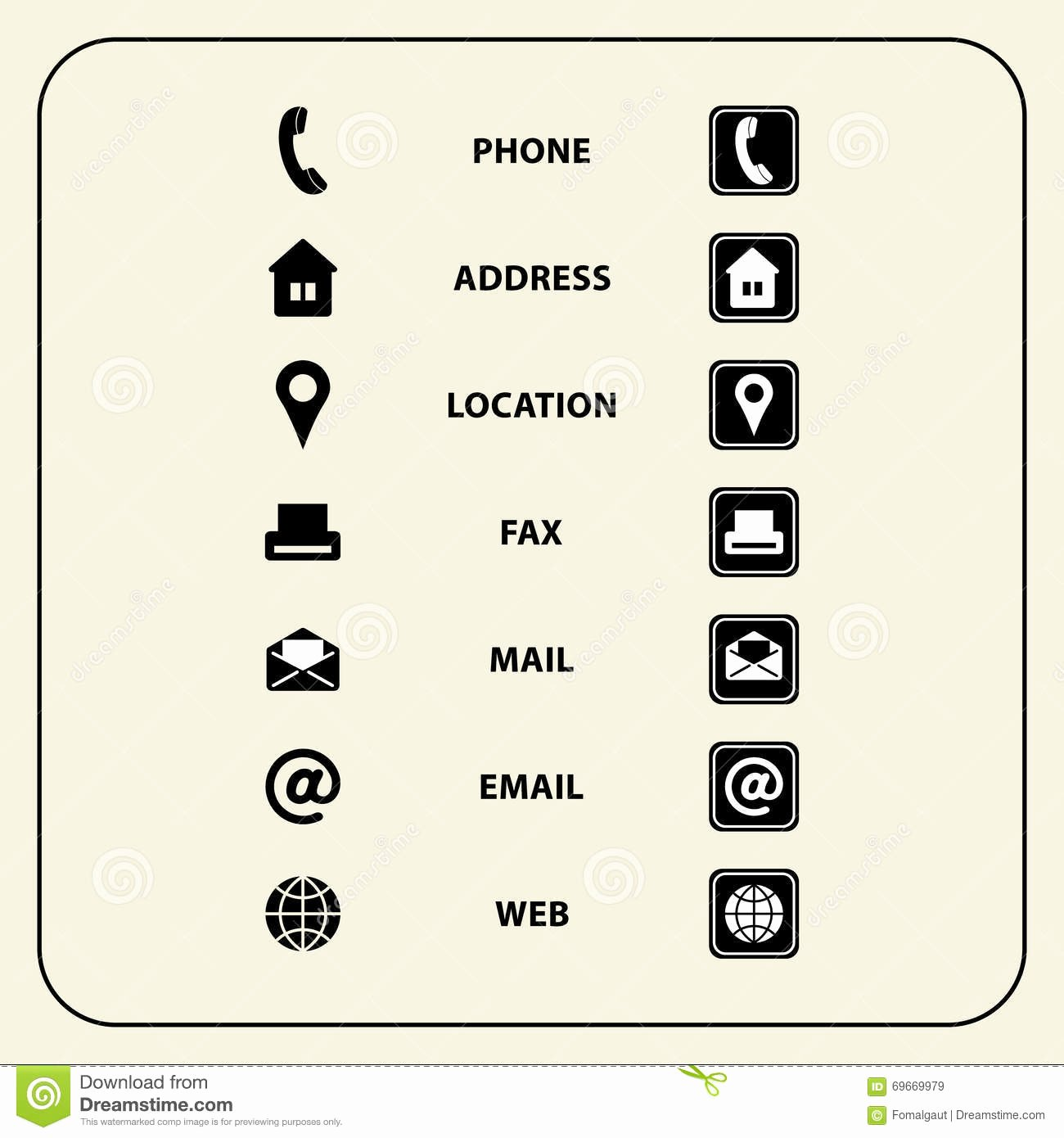Icons for Business Cards Elegant Set Web Icons for Business Cards Finance and