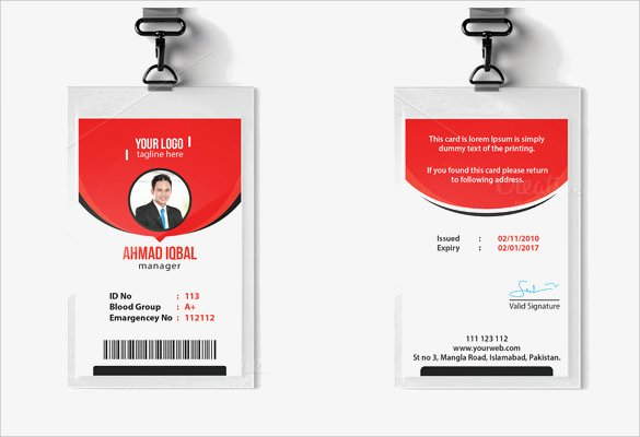 Id Badge Template Photoshop Awesome Id Card Template 19 Download In Psd Pdf Word