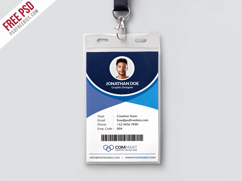 Id Badge Template Photoshop Beautiful Corporate Fice Identity Card Template Psd