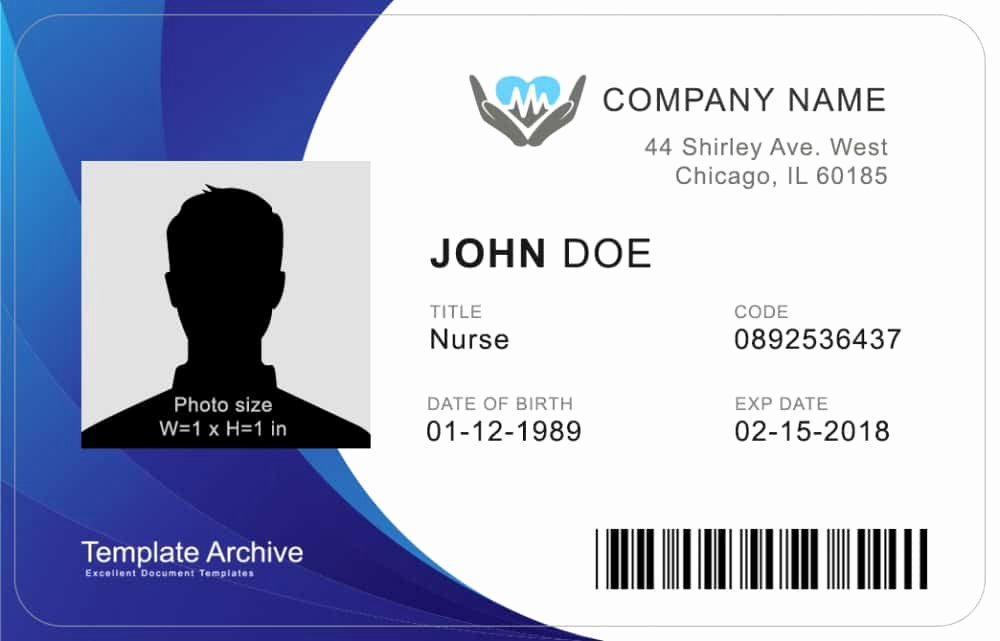 Id Badge Template Photoshop Lovely 16 Id Badge & Id Card Templates Free Template Archive