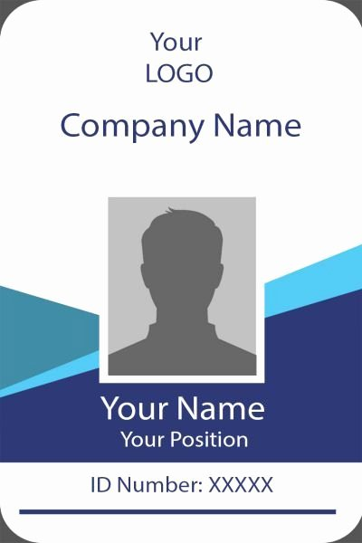 Id Badge Template Photoshop Lovely Id Card Twelve Front Id Card Template