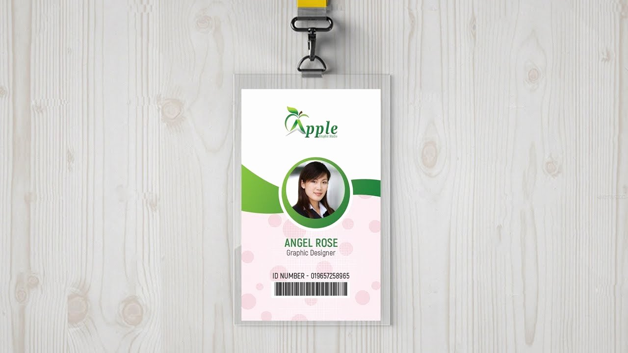 Id Badge Template Photoshop New Id Badge Design Tutorial Size Of Id Card In Shop