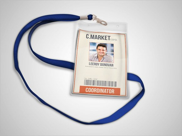 Id Badge Template Photoshop Unique Free 35 Amazing Id Card Templates In Illustrator Ms Word Pages Shop Publisher